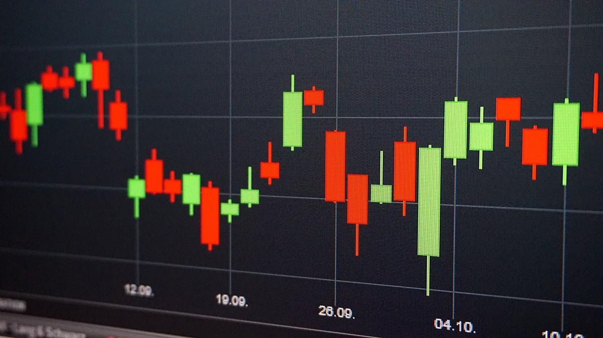 courbe evolution marché boursière
